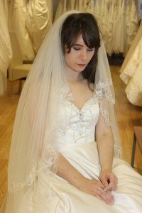 Cathedral Length Veil Embroidered Lace
