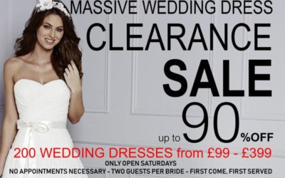 MASSIVE WEDDING DRESS SALE